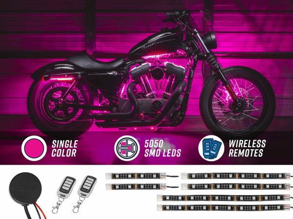 Advanced Pink SMD LED Motorcycle Light Kit