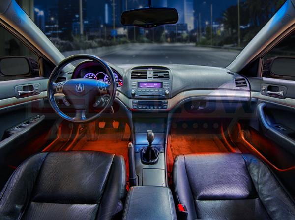Orange Expandable LED Interior Lighting Kit