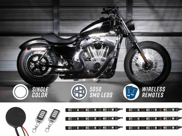 Advanced White SMD LED Motorcycle Light Kit