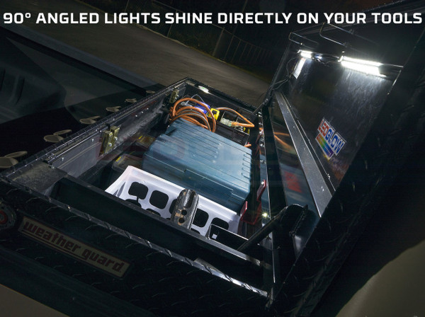 Tool Box Lights Feature 90° Angled Lighting