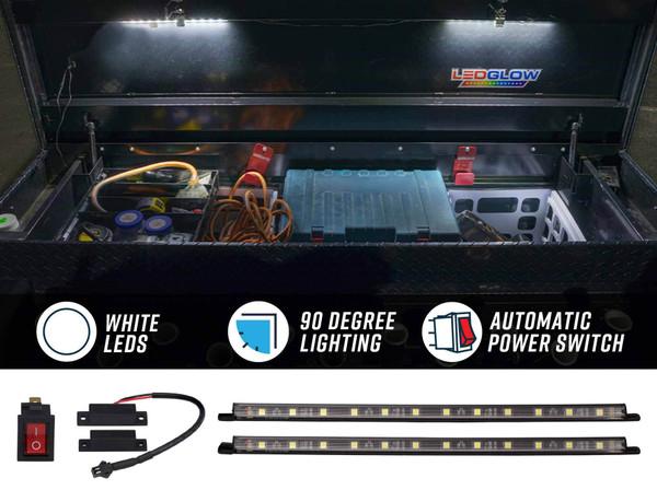 2pc Truck Tool Box LED Lights