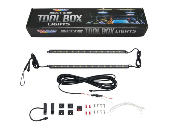 2pc Truck Tool Box Lights Unboxed