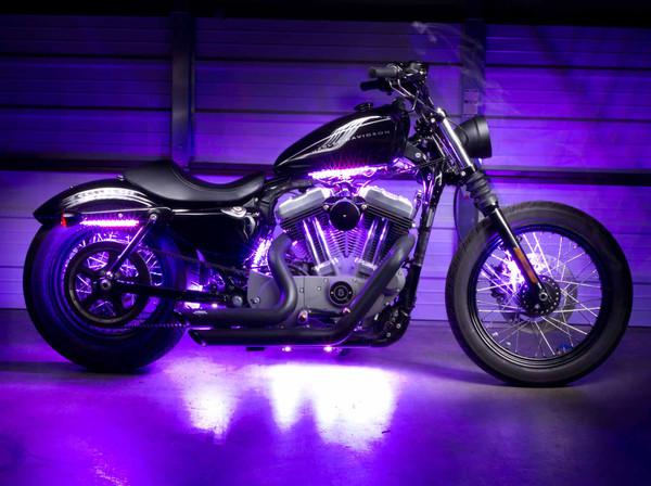 Advanced Purple LED Motorcycle Lighting Kit