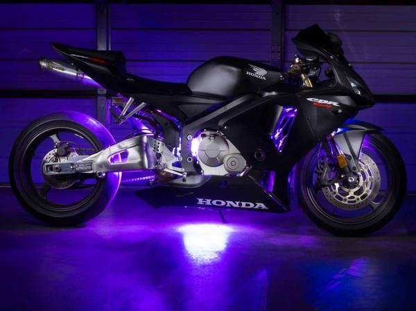 Advanced Purple Motorcycle Lights