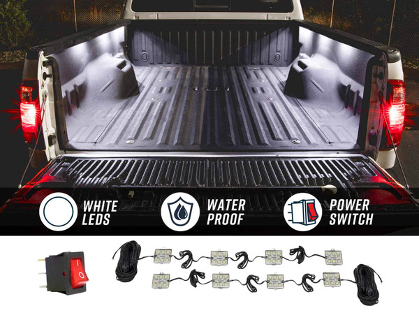 8pc Truck Bed LED Lighting Kit