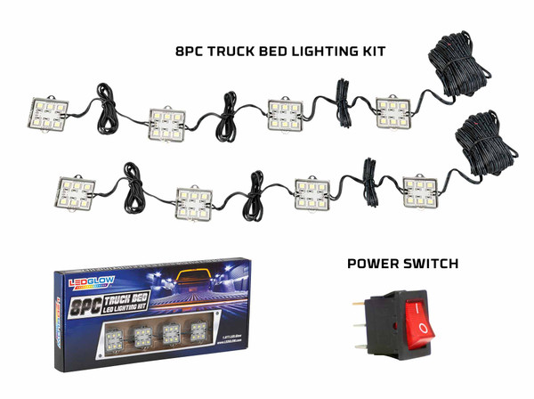 8pc. Truck Bed Lights & Power Switch