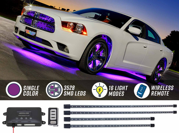 Purple Wireless SMD LED Underbody Lighting Kit