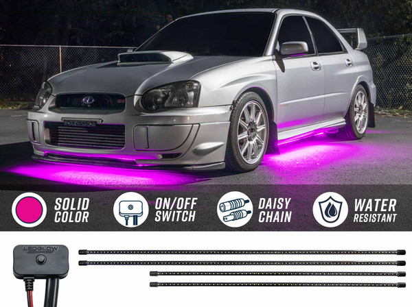 Pink SMD LED Slimline Underbody Lighting Kit