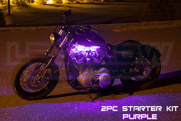 2pc Classic Purple Motorcycle Lighting Kit