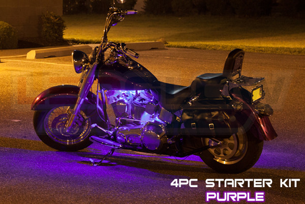 4pc Classic Purple Motorcycle Lighting Kit