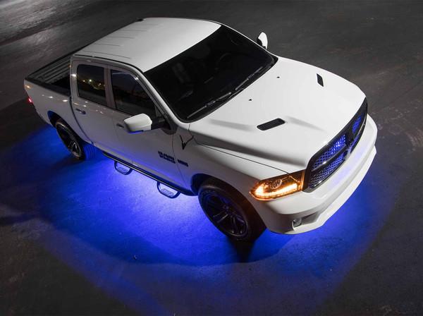 LEDGlow 6pc Blue Truck Slimline Underglow Light Kit