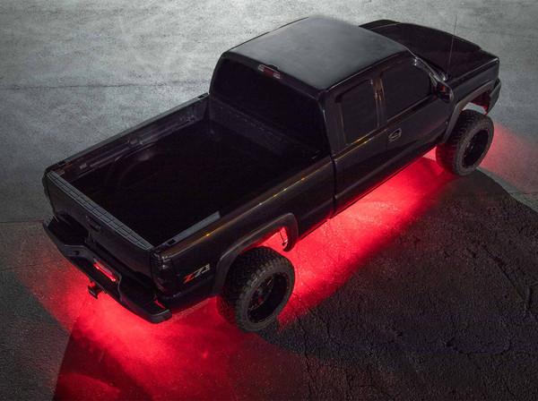 LEDGlow Red SMD LED Slimline Underbody Kit for Trucks