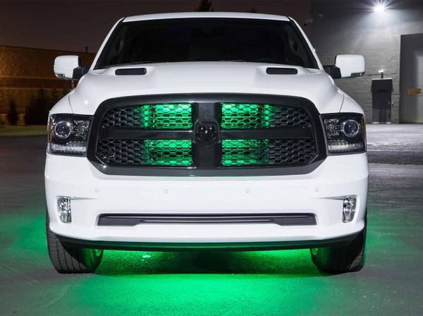 Green Slimline Truck Underbody Light Kit