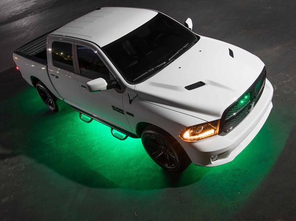 LEDGlow 6pc Green Truck Slimline Underglow Light Kit