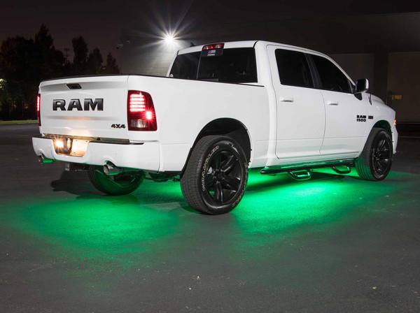 LEDGlow Green SMD LED Slimline Underbody Kit for Trucks