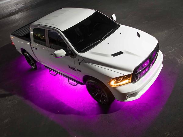 LEDGlow 6pc Pink Truck Slimline Underglow Light Kit