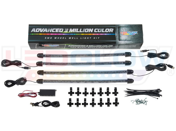 Advanced 3 Million USB Wheel Well Lights Add-On Kit Unboxed