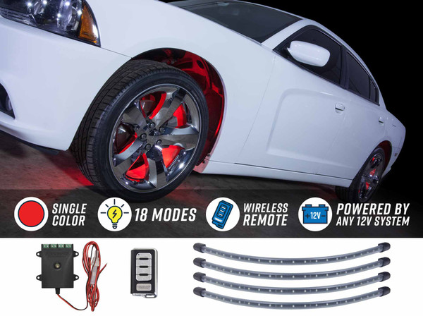 Red Flexible LED Wheel Well Lights