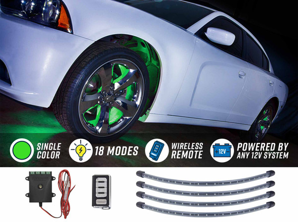 Green Flexible LED Wheel Well Lights