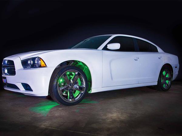 Green LED Wheel Well Fender Lights