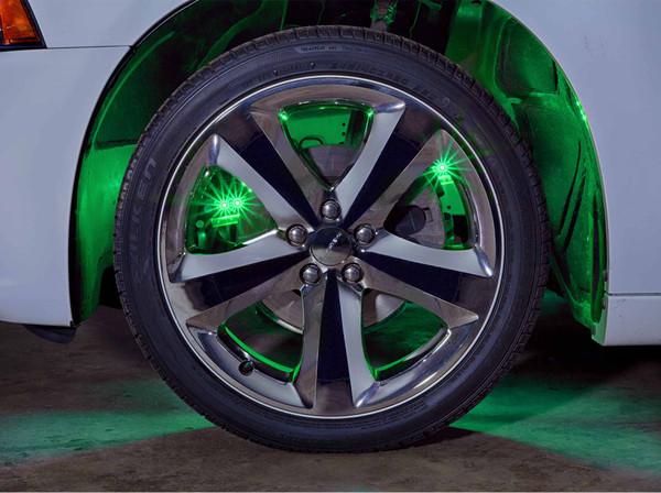 Green Wheel Well Lights