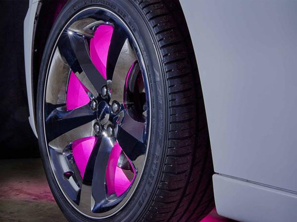 Pink LED Fender Well Lights