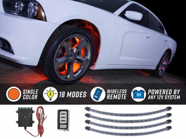 Orange Flexible LED Wheel Well Lights
