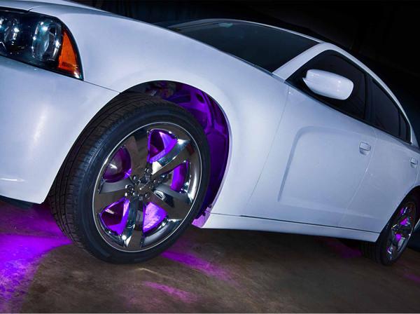 Purple Wheel Well Lighting Kit