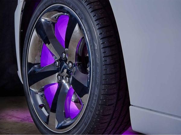 Purple LED Fender Well Lights