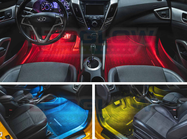 2pc 7 Color Interior Lighting