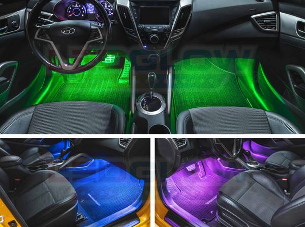 2pc 7 Color Interior LED Lights