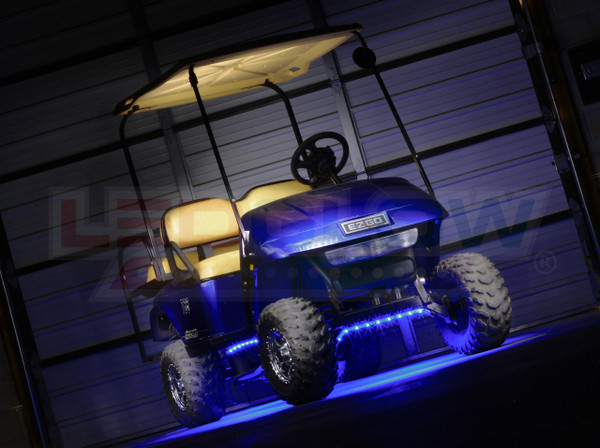 Blue Flexible Golf Cart Lighting Kit