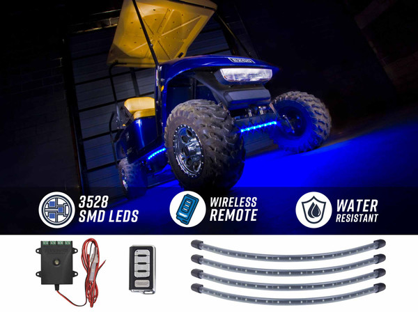 Blue LED Golf Cart Underbody Lights