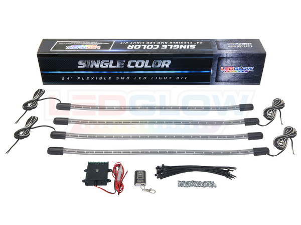 Red LED Golf Cart Lighting Kit Unboxed