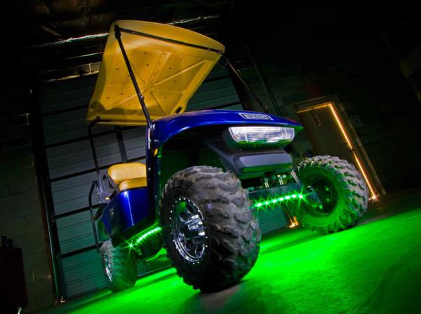 Green LED Golf Cart Lights