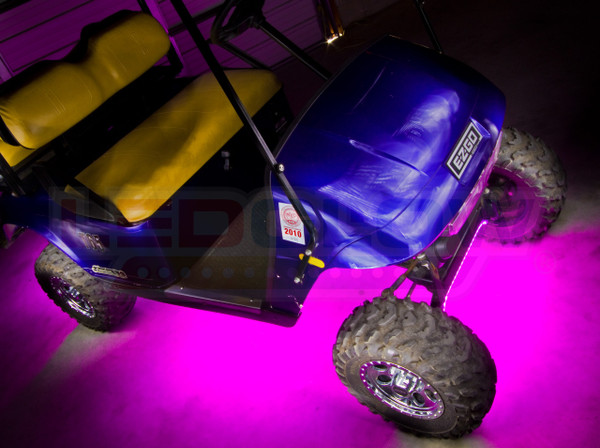 Pink Golf Cart Lighting Kit