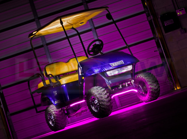 Pink Flexible Golf Cart Lights