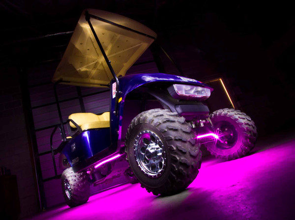 Pink LED Golf Cart Lights