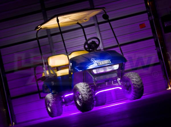Flexible Purple Golf Cart Lights