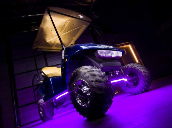Purple Golf Cart Lights