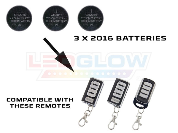 LEDGlow Replacement 2016 Battery / Remotes