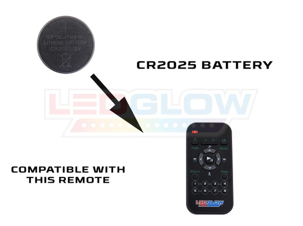 LEDGlow Replacement 2025 Battery / Remotes