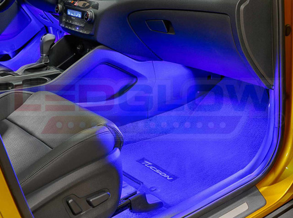4pc Blue LED Car Interior Lights