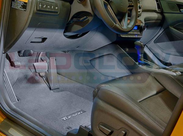 4pc White LED Car Interior Lights