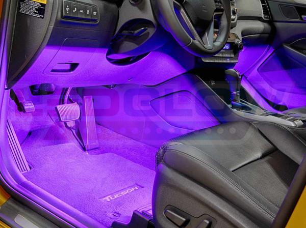 4pc Purple LED Car Interior Lights