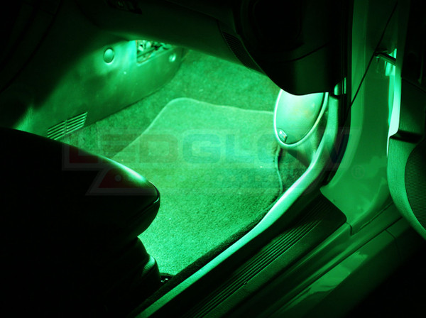 2pc Expandable Green Interior Lighting