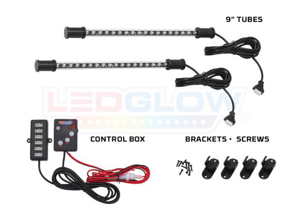 2pc Expandable Purple LED Interior Starter Kit