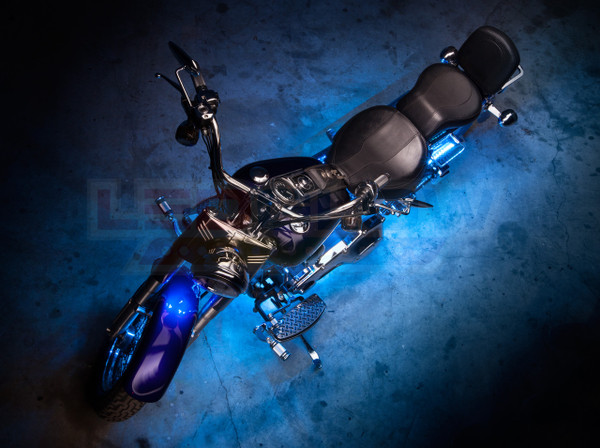 Advanced Ice Blue Motorcycle Lighting