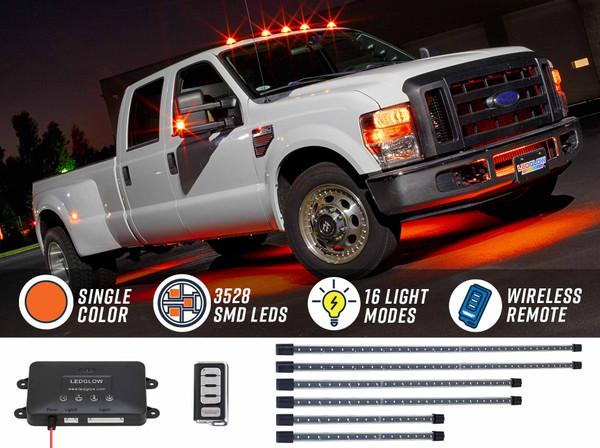 Orange Wireless SMD LED Truck Underbody Lighting Kit