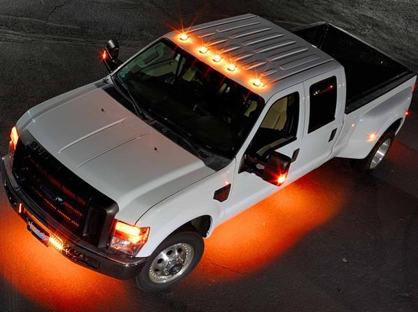 LEDGlow 6pc Wireless Orange SMD LED Underbody Lighting Kit